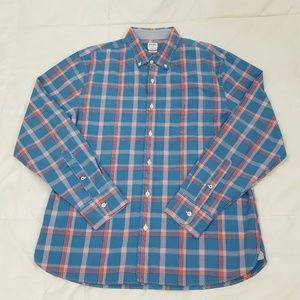 Bonobos Standard Casual Shirt Mens Large Blue